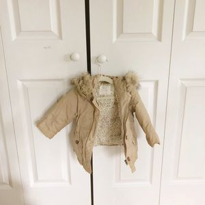 Baby Zara Jacket with Fur Trim